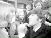 Scene from A Hard Day's Night with John and Paul